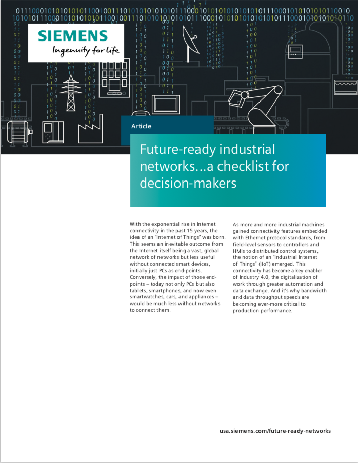 Future-ready industrial networks: a checklist for decision