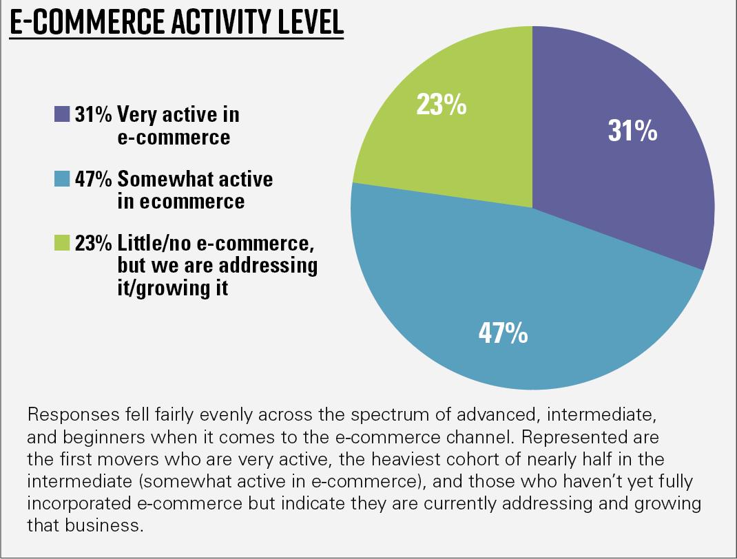 Chart 3—Demographics of respondents—E-commerce activity level